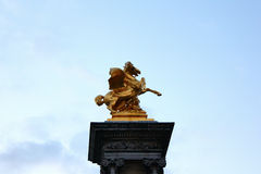 The monument in Paris. The monument of horse in Paris Royalty Free Stock Photography