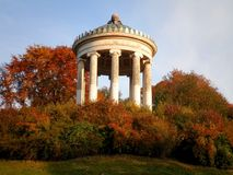 Monument in Park. A monument in a german park during the fall royalty free stock images