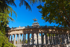 Monument in the Park - Madrid Spain Stock Image
