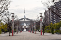 Monument in the park. This photo is shot in Hiroshima Japan Stock Photography