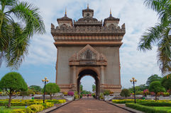 Monument Patuxai. Vientiane. Laos. Stock Photos