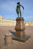 The monument of Pavel I and the sundial at the Big Gatchina Palace. Leningrad region Stock Photography