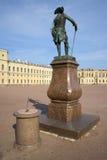 The monument of Pavel I and the sundial at the Big Gatchina Palace. Leningrad region Stock Photography