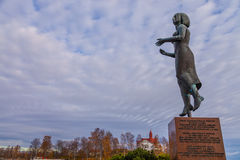 Monument of peace with USSR. Helsinki, Finland, Autumm Royalty Free Stock Photos