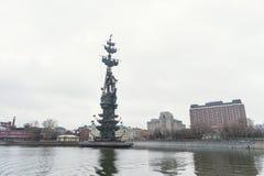 Monument Peter det stort i Moskva Fotografering för Bildbyråer