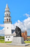 Monument of Peter the Great and Nikita Demidov in Nevyansk, Russia Royalty Free Stock Photos