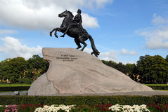 Monument of Peter the Great, St. Petersburg. stock photos