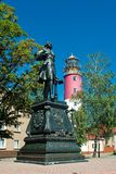 Monument of Peter I in Baltiysk, Russia Royalty Free Stock Photography