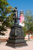 Monument of Peter I in Baltiysk, Russia Royalty Free Stock Photos