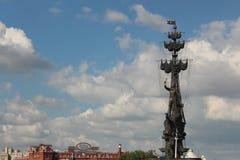 Monument Peter I i Moskva Royaltyfri Fotografi