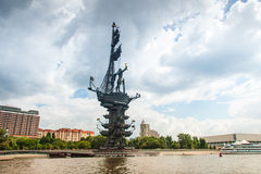 1. Monument Peter in Moskau Lizenzfreies Stockfoto