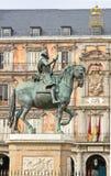Monument of Philip III on Plaza Mayor Royalty Free Stock Photo