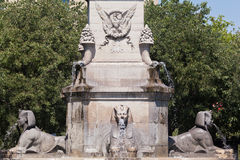 Monument at Place du Chatelet Paris Stock Image