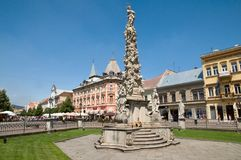 Monument plague Column in Kosice. Royalty Free Stock Photo