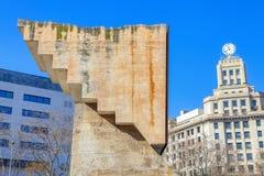 Monument on  Plaza Catalunya. Monument to Francesc Macia on Plaza Catalunya in Barcelona royalty free stock images