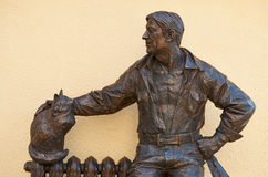 Monument plumber in Rostov-on-Don. Russia Stock Images