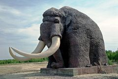 Monument polar mammoth. Royalty Free Stock Photography