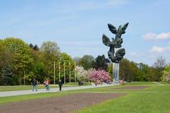 Monument polonais d'effort Images stock