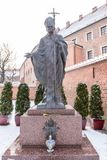 Monument of Pope John Paul II Stock Images