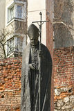Monument of Pope John Paul II, Krakow, Poland Stock Photo
