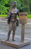 Monument of postman in Tyumen Stock Images