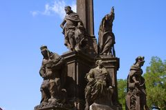 Monument In Prague Royalty Free Stock Photos