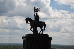 Monument prelates Vladimir region  prince on horse bishop Stock Images