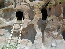 Bandelier National Monument Cliff Dwellings. The monument preserves the homes and territory of the Ancestral Puebloans of a later era in the Southwest. Most of stock photography