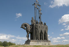 Monument prince Alexander Nevsky Stock Photo