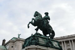 Monument of Prince Eugene of Savoy. Monument in Heldenplatz, Vienna, designed by Anton Dominik Fernkorn in 1865 Stock Photography