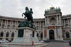Monument of Prince Eugene of Savoy. Monument in Heldenplatz, Vienna, designed by Anton Dominik Fernkorn in 1865 Stock Photo
