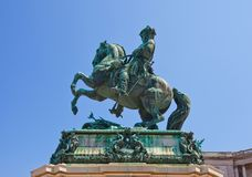 Monument for Prince Eugene of Savoy (1865). Vienna, Austria. Equestrian statue (1865) of Prince Eugene of Savoy near Hofburg Palace. Scultor Anton Dominick Royalty Free Stock Photos