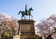 Monument of Prince Komatsu Akihito Royalty Free Stock Image