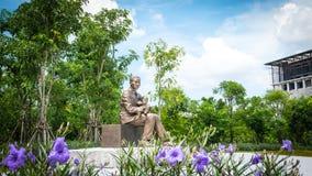 Monument of Prince Mahidol Adulyadej at Mahidol University , Thailand Royalty Free Stock Images