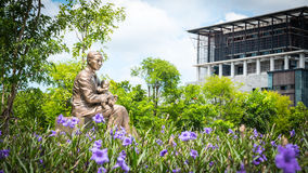 Monument of Prince Mahidol Adulyadej at Mahidol University , Thailand Royalty Free Stock Images