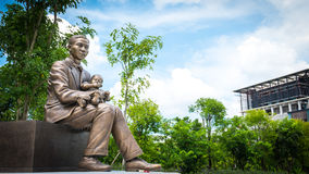 Monument of Prince Mahidol Adulyadej at Mahidol University , Thailand Stock Photos