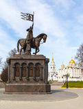 Monument of Prince Vladimir against Assumption cathedral Royalty Free Stock Image