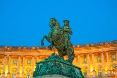 Monument of the Prinz Eugen on Heldenplatz in Vienna, Austria Stock Photography