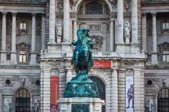 Monument of the Prinz Eugen, Vienna Royalty Free Stock Photography
