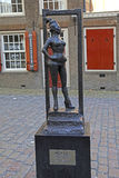 Monument of prostitute «Belle» in Red lights district, Amsterd Royalty Free Stock Photography