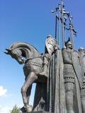 Monument in Pskov Alexander Nevsky Stock Photo