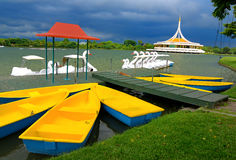 Monument at public park. Against water wave and blue sky at Suanluang Rama 9, Thailand Stock Image