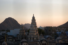 Monument in Pushkar stock photography