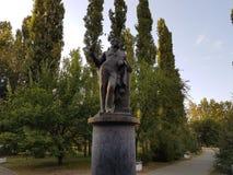 monument pushkin till Fotografering för Bildbyråer
