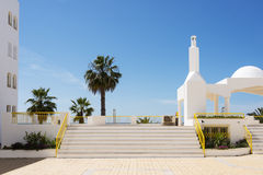 Monument in quarteira Royalty Free Stock Image