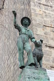 A monument in Quedlinburg. The gardener with dog monument in Quedlinburg Royalty Free Stock Images