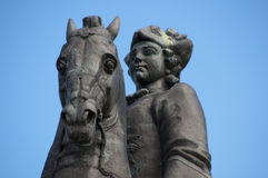 Monument queen Elizabeth set two Royalty Free Stock Photo
