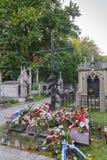 Monument in Rakowicki-Begraafplaats stock fotografie