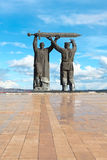 Monument Rear-front in Magnitogorsk, Russia. Rear-Front - a monument located in the city of Magnitogorsk. The monument is the first part of the triptych stock photography