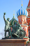 Monument on the Red square Royalty Free Stock Photos